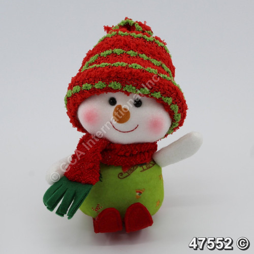 "[47552] 7.5"" Skiing Girl Snowman"