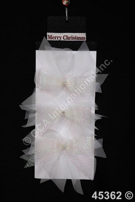 """[45362] 8x8""""Christmas bows set/3"""