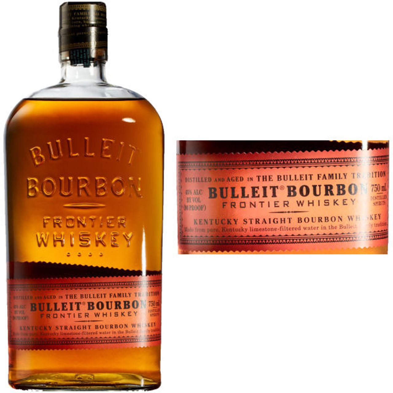 Bulleit Bourbon Kentucky Straight Bourbon Whiskey 750ml