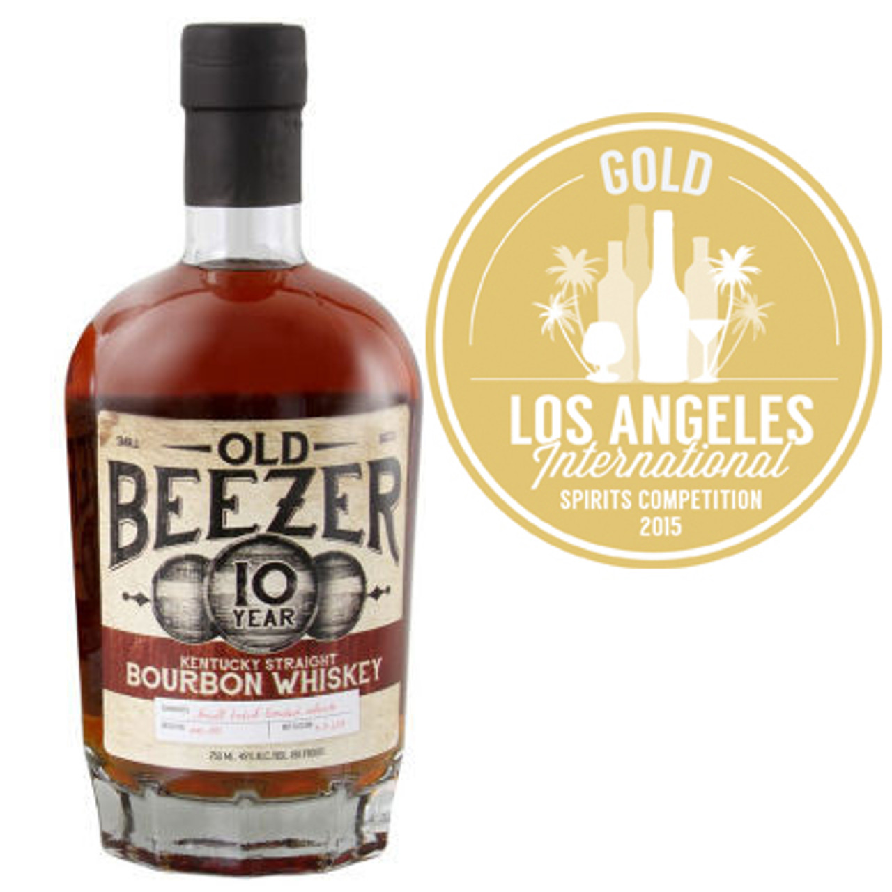 Old Beezer 10 Year Old Kentucky Straight Bourbon Whiskey 750ml