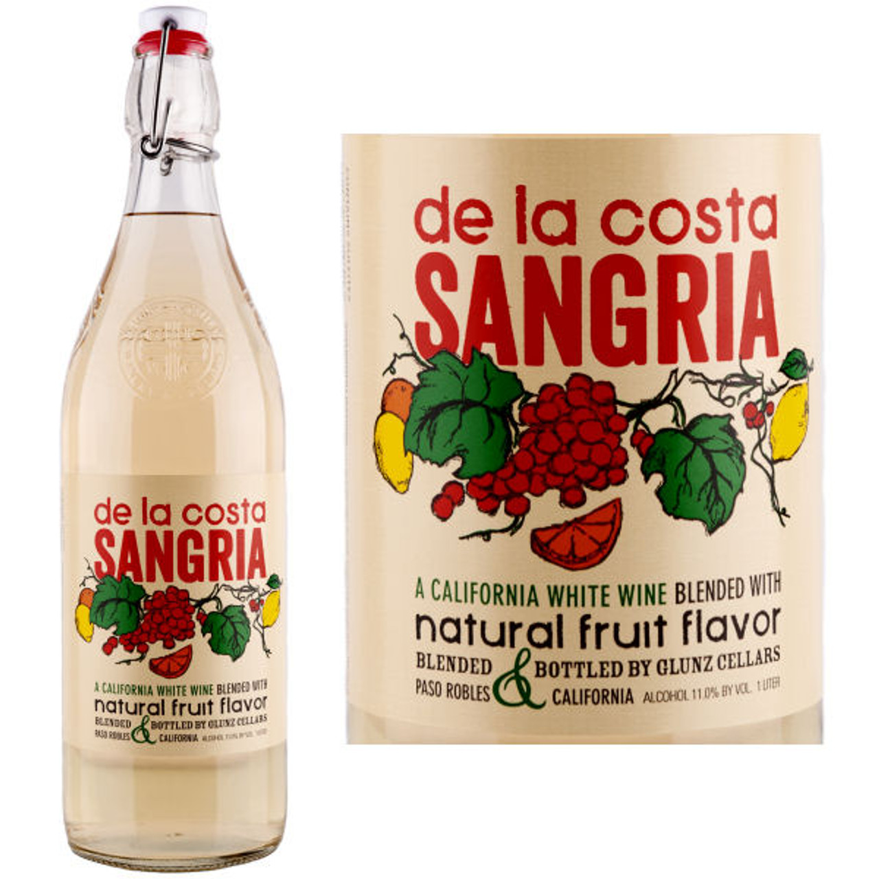 Glunz de la Costa Sangria White Wine California 1L