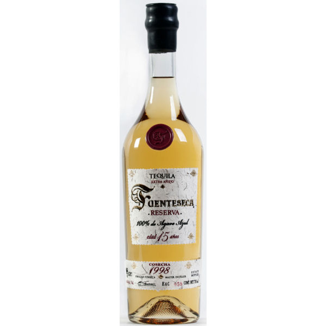 Fuenteseca Reserva Extra Anejo 1998 15 Year Old Tequila 750ml