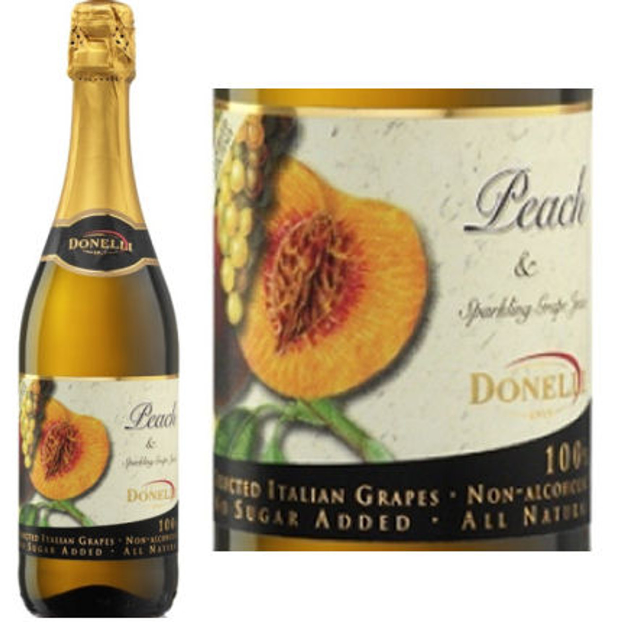 Donelli Peach Flavor Sparkling Grape Juice NA