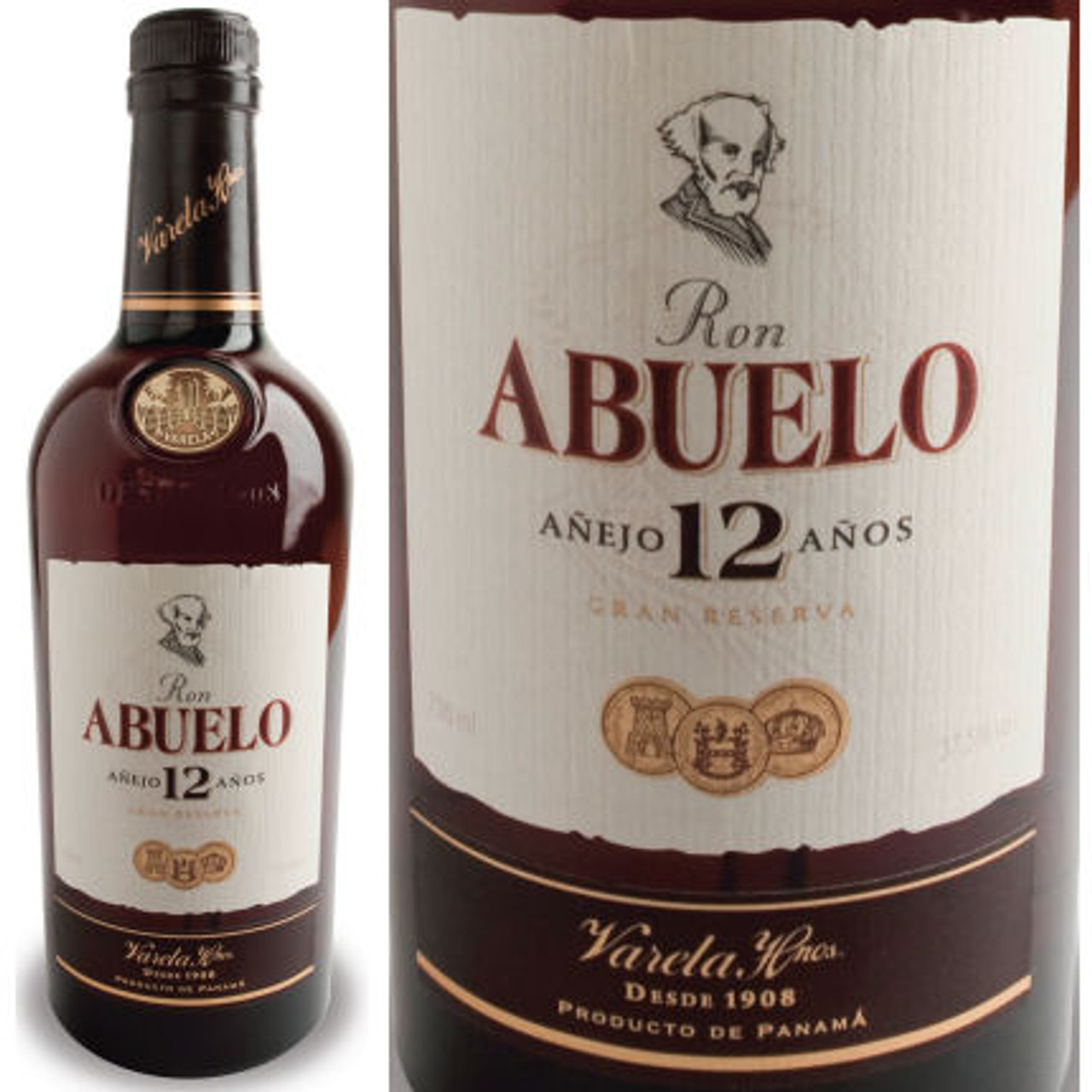 Ron Abuelo 12 Year Old Anejo Rum 750ml