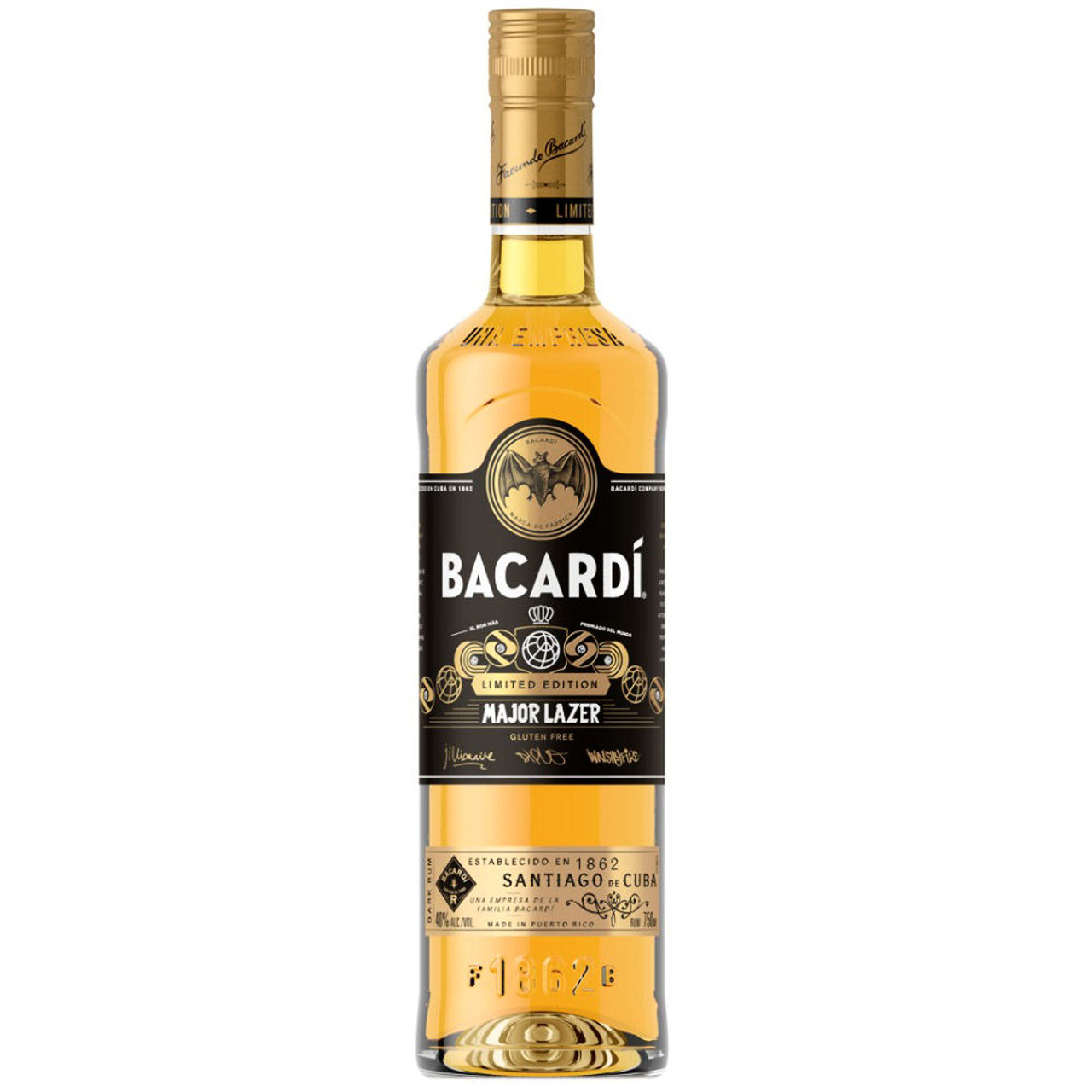 Bacardi Limited Edition Major Lazer Rum 750ml