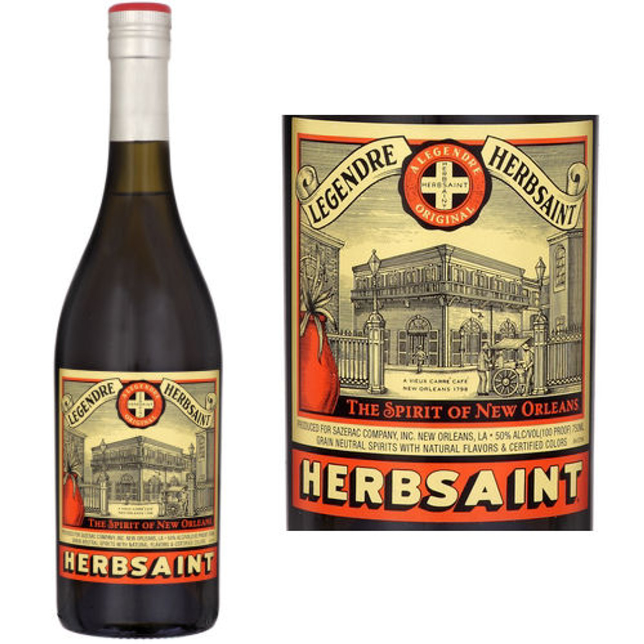 Legendre Herbsaint ORIGINAL Anise Liqueur New Orleans 750ml