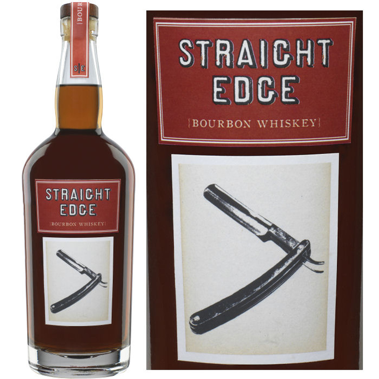 Straight Edge Bourbon Whiskey 750ml