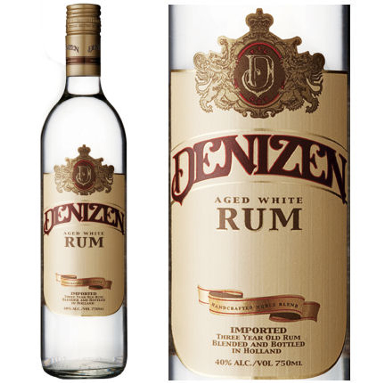 Denizen Aged White Rum 750ml
