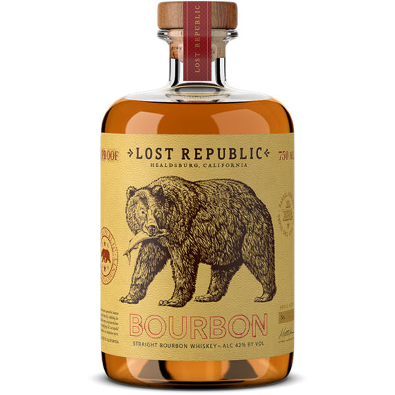 Lost Republic Straight Bourbon Whiskey 750