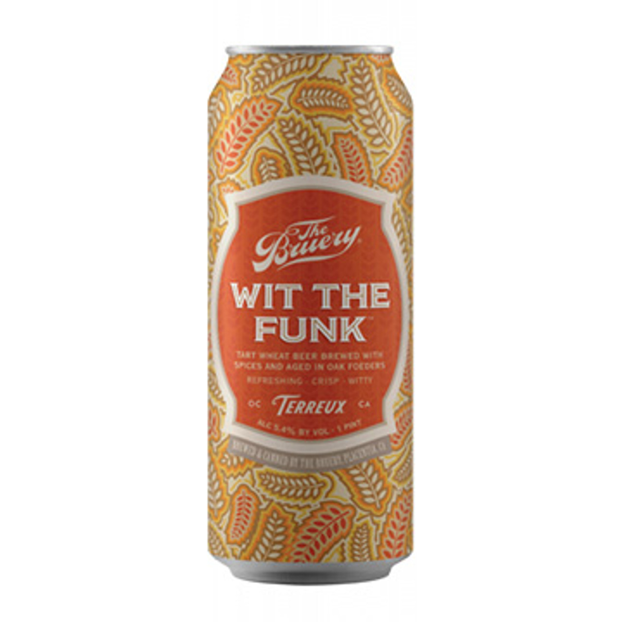 The Bruery Wit The Funk Tart Wheat Beer 16oz 4 Pack Cans