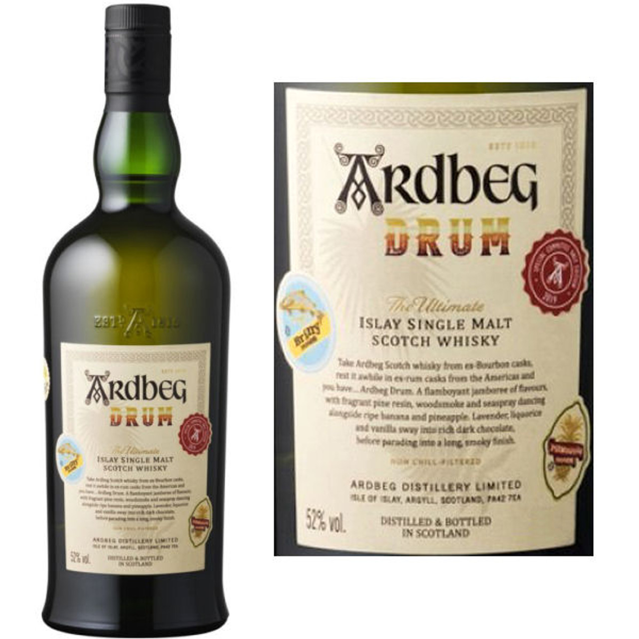 Ardbeg Drum Islay Single Malt Scotch 750ml