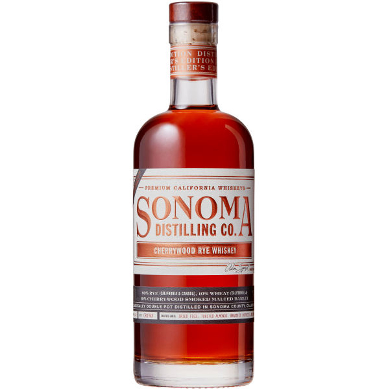 Sonoma Distilling Cherrywood Rye Whiskey 750ml