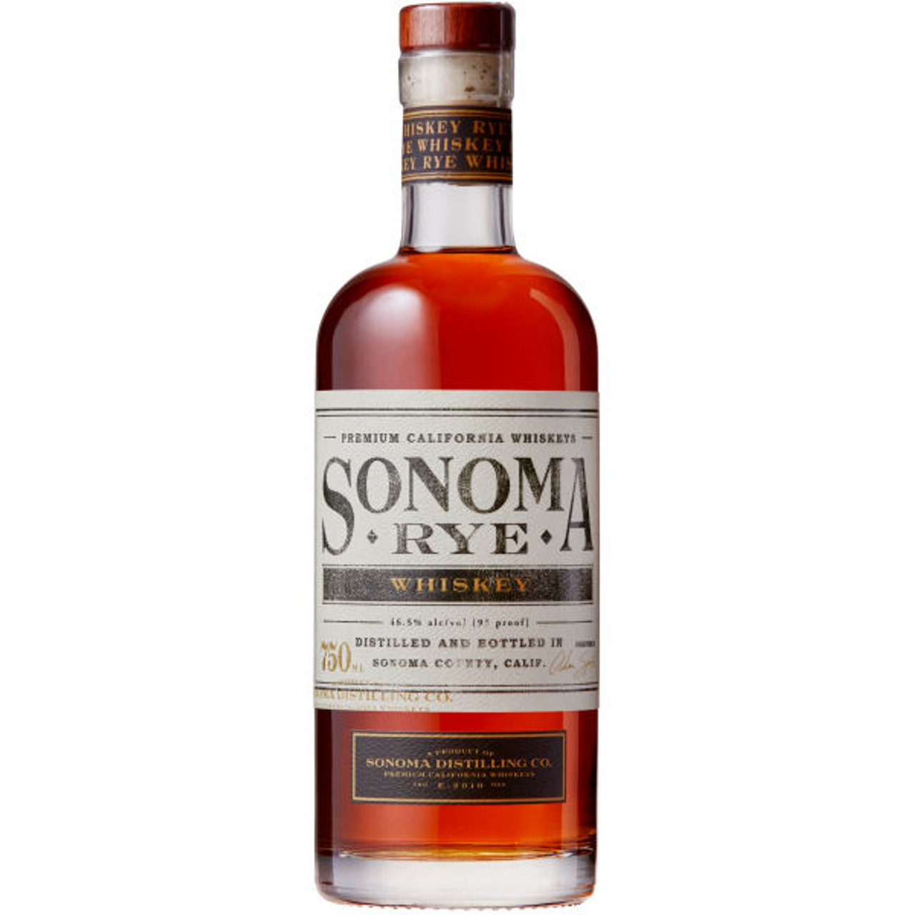 Sonoma Distilling Sonoma Rye Whiskey 750ml