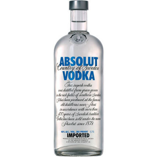 Absolut Swedish Grain Vodka 1.75L