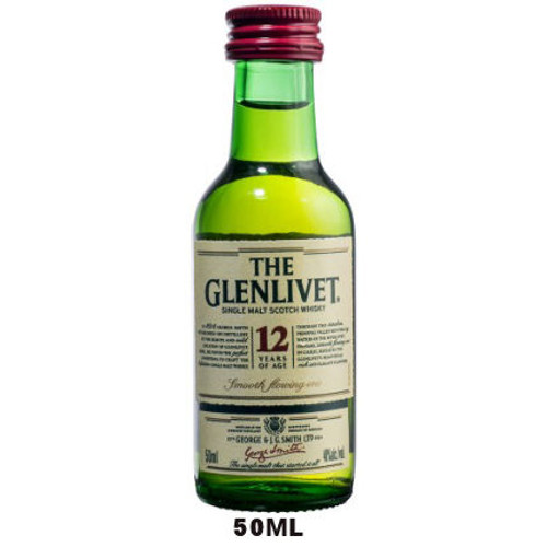 50ml Mini The Glenlivet 12 Year Old Speyside Single Malt Scotch