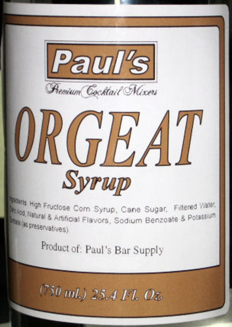 Paul's Premium Cocktail Mixers Orgeat Syrup 25.4oz