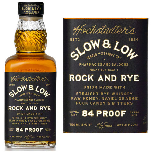 Hochstadter's Slow & Low Rock and Rye Whiskey 750ml