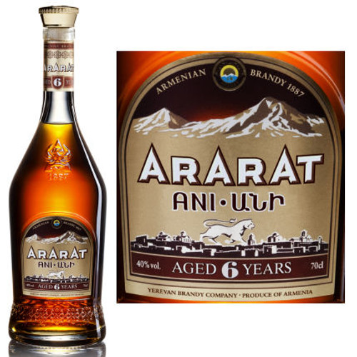 Ararat Ani 6 Year Old Armenia Brandy 750ml
