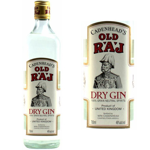 Cadenhead's Old Raj Dry Gin Red Label 750ml