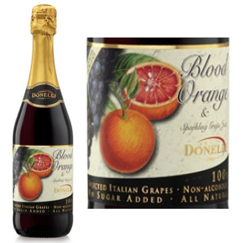 Donelli Blood Orange Flavor Sparkling Grape Juice NA