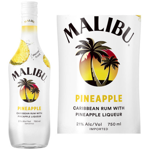 Malibu Pineapple Flavored Rum 750ml