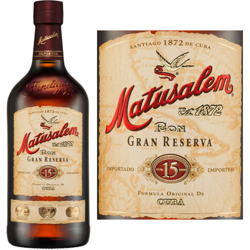 Ron Matusalem Gran Reserva 15 Year Old Rum 750ml