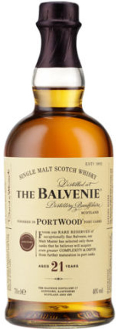Balvenie 21 Year Old Portwood Single Malt Scotch 750ml
