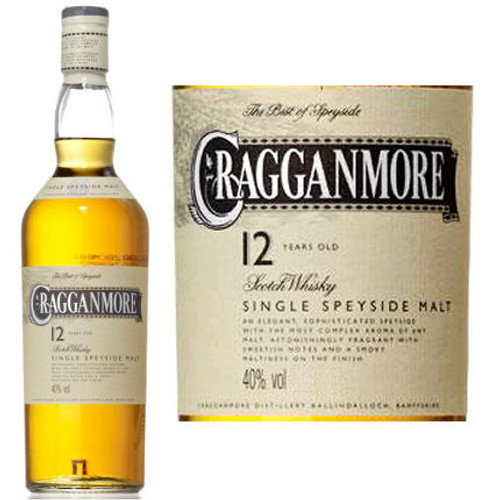 Cragganmore 12 Year Old Speyside Single Malt Scotch 750ml