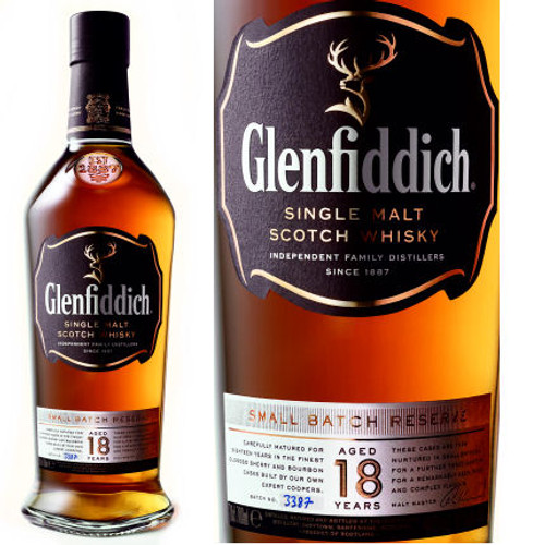 Glenfiddich Small Batch Reserve 18 Year Old Speyside Single Malt Scotch 750ml