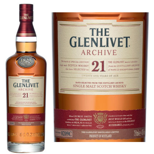 The Glenlivet 21 Year Old Archive Speyside Single Malt Scotch 750ml