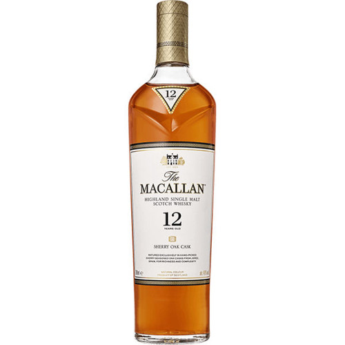 Macallan 12 Year Old Sherry Oak Cask Highland Single Malt Scotch 750ml