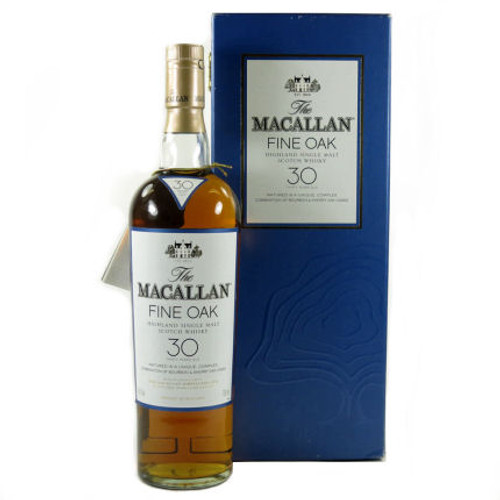 Macallan 30 Year Old Fine Oak Highland Single Malt Scotch