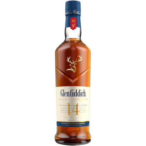 Glenfiddich 14 Year Old Bourbon Barrel Reserve Single Malt Scotch Whisky 750ml