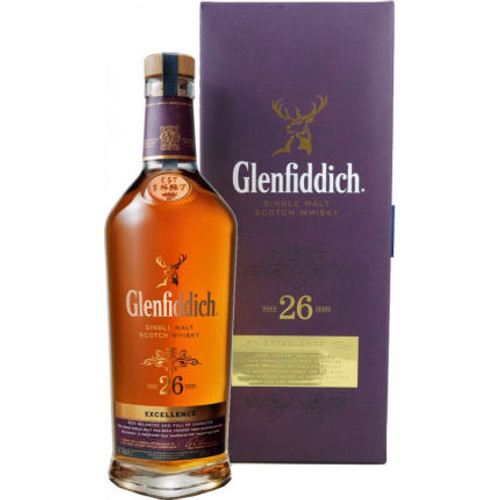 Glenfiddich Excellence 26 Year Old Speyside Single Malt Scotch 750ml