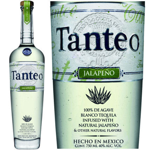 Tanteo Jalapeno Infused Blanco Tequila 750ml