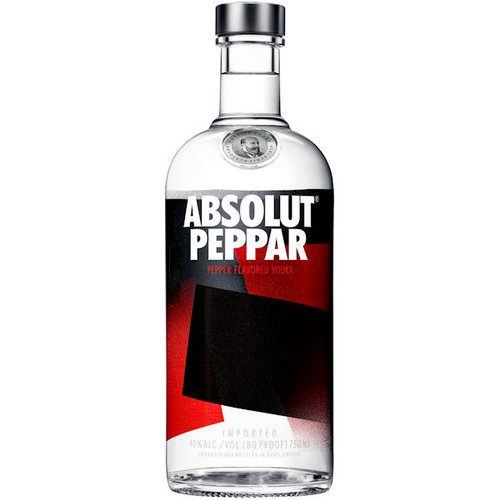 Absolut Peppar Swedish Grain Vodka 750ml Rated 91