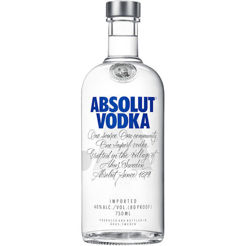 Absolut Swedish Grain Vodka 750ml