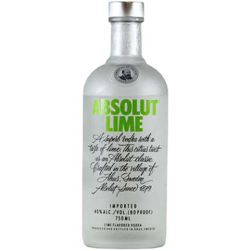 Absolut Lime Swedish Grain Vodka 750ML