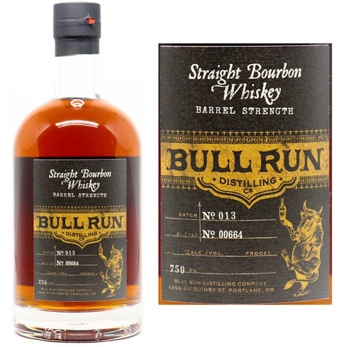 Bull Run Barrel Strength Straight Bourbon Whiskey 750ml