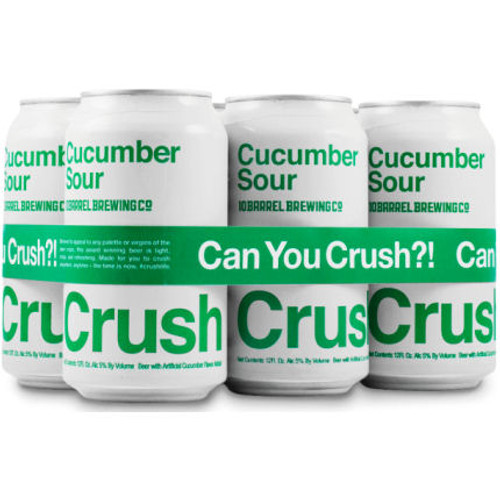 10 Barrel CRUSH Cucumber Sour 12oz 6 Pack Cans