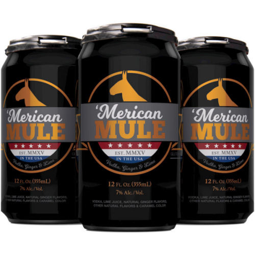 Merican Mule Moscow Mule Cocktail 12oz 4 Pack Cans