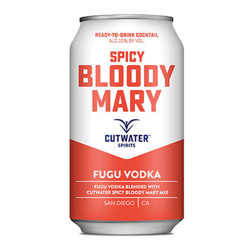 Cutwater Spirits Fugu Vodka Spicy Bloody Mary Ready-To-Drink 4-Pack 12oz Cans
