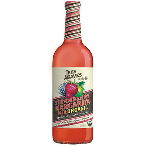 Tres Agave Organic Strawberry Margarita Mix 1L