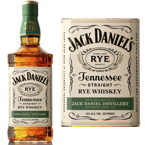 Jack Daniels Tennessee Straight Rye Whiskey 750ml