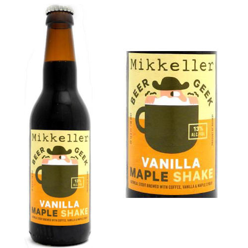 Mikkeller Beer Geek Vanilla Maple Shake Imperial Oatmeal Stout 12oz