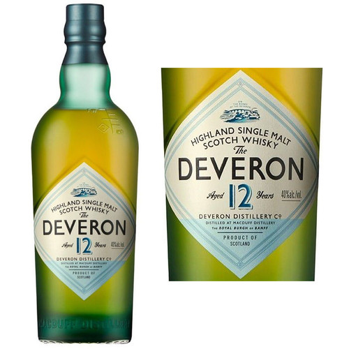 The Deveron 12 Year Old Highland Single Malt Scotch 750ml