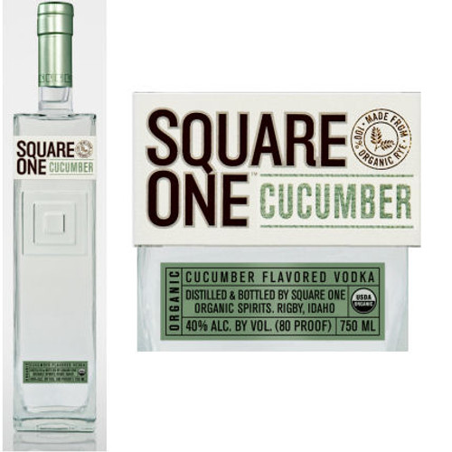 Square One Organic Cucumber Flavored Vodka 750ml855886001104