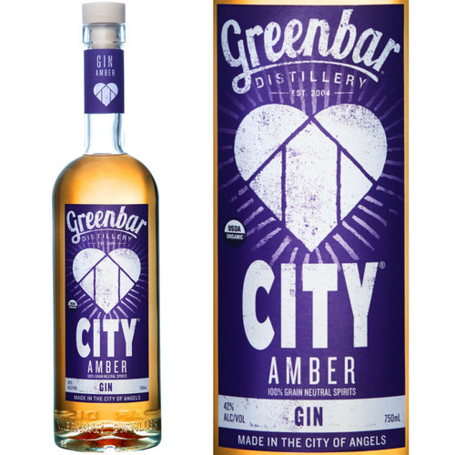 Greenbar City Amber Organic Gin 750ml