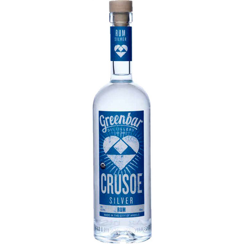 Greenbar Crusoe Silver Organic Rum 750ml