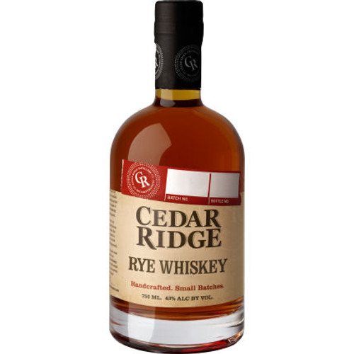 Cedar Ridge Rye Whiskey 750ml